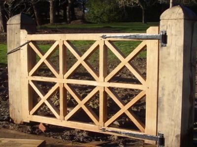 Bespoke oak gate